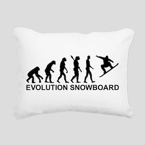 Evolution Snowboarding S Rectangular Canvas Pillow