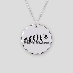Evolution Snowboarding Snowb Necklace Circle Charm