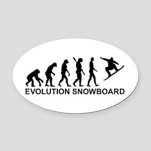 Evolution Snowboarding Snowboard Oval Car Magnet