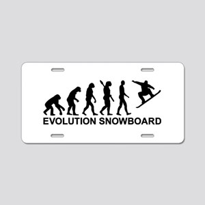 Evolution Snowboarding Snow Aluminum License Plate