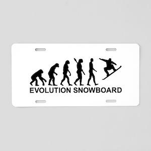 Evolution Snowboarding Snow Aluminum License Plate