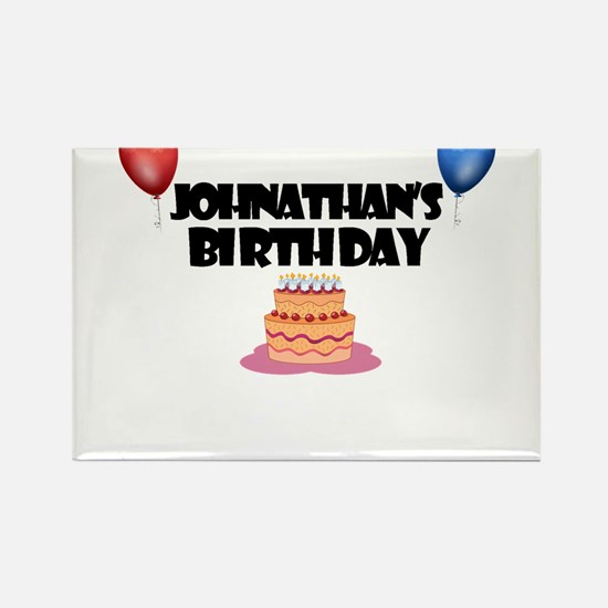 Johnathan's Birthday Rectangle Magnet