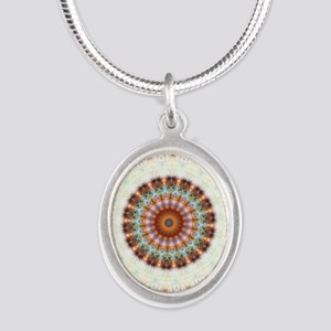 Detailed Orange Earth Mandala Necklaces