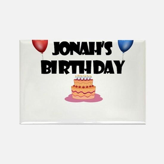 Jonah's Birthday Rectangle Magnet