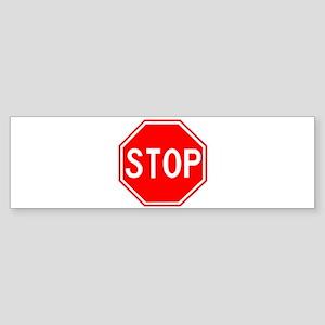 Stop Sign Bumper Sticker