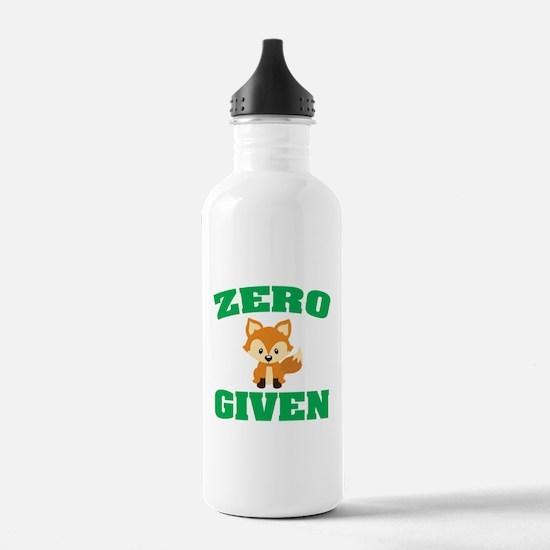 Zero Fox Given Water Bottle