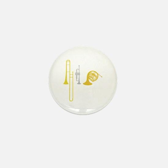 Brass Instruments Mini Button