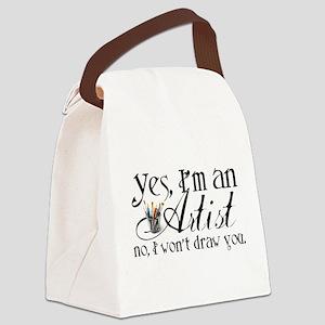 Artist Pet Peeve Canvas Lunch Bag