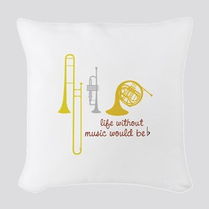 Life Without Music PGbn01117b Woven Throw Pillow