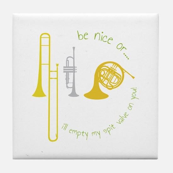 Be Nice Tile Coaster