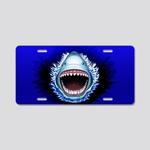 Shark Jaws Attack Aluminum License Plate