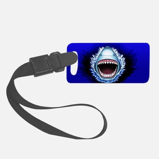 Shark Jaws Attack Luggage Tag