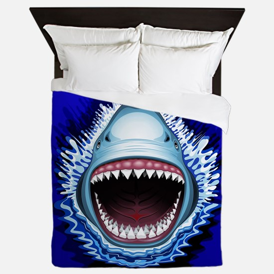 Shark Jaws Attack Queen Duvet