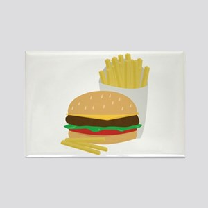 Burger and Fries Magnets