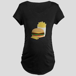 Burger and Fries Maternity T-Shirt