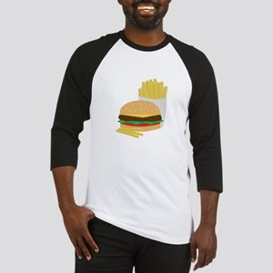Burger and Fries Baseball Jersey