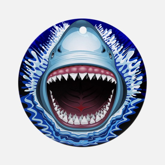 Shark Jaws Attack Ornament (Round)