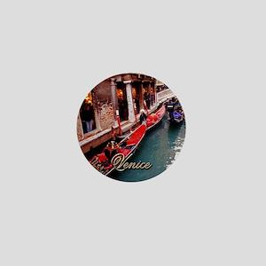 Gondolas in Venice Mini Button