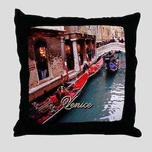 Gondolas in Venice Throw Pillow