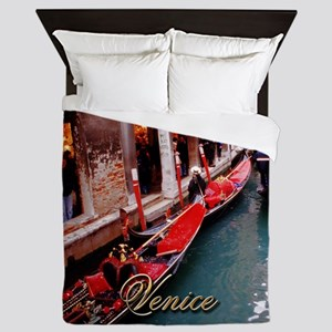 Gondolas in Venice Queen Duvet