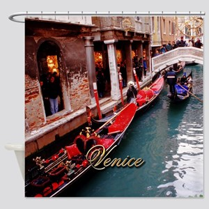 Gondolas in Venice Shower Curtain