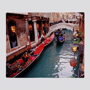 Gondolas in Venice Throw Blanket