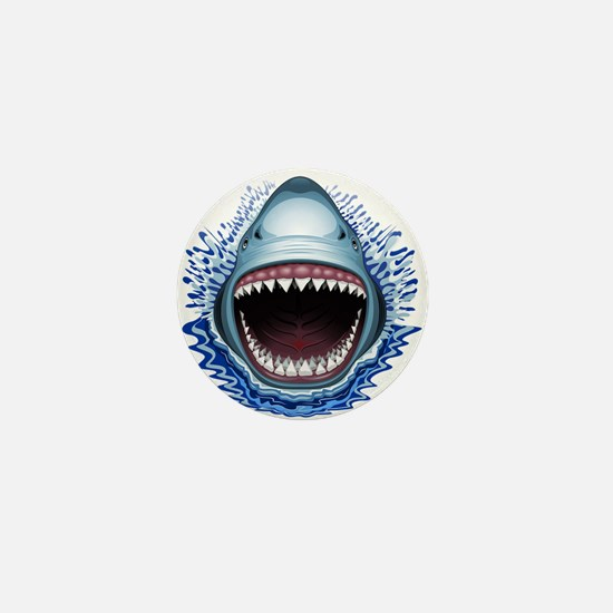Shark Jaws Attack Mini Button