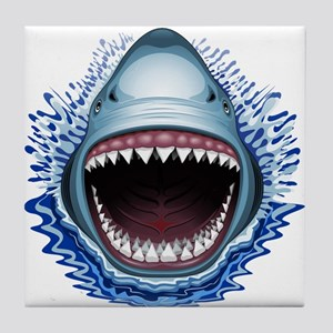 Shark Jaws Attack Tile Coaster