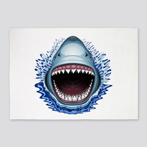 Shark Jaws Attack 5'x7'Area Rug