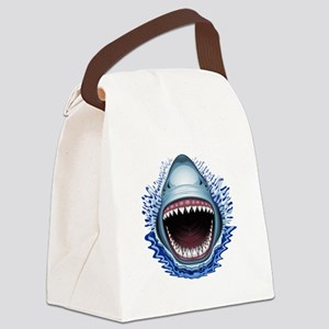 Shark Jaws Attack Canvas Lunch Bag