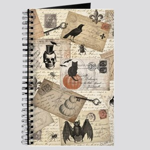 modern vintage Halloween postcard collage Journal