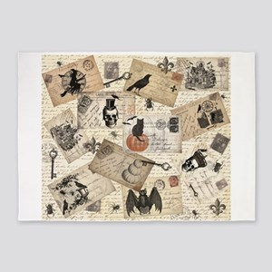 modern vintage Halloween postcard collage 5'x7'Are