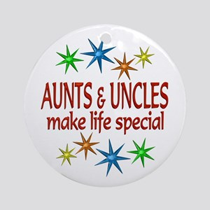 Special Aunt Uncle Ornament (Round)
