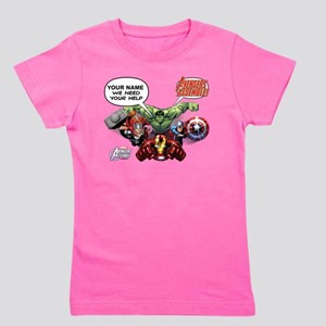Avengers Assemble Personalized Design 1 Girl's Tee