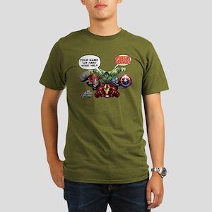 Avengers Assemble Per Organic Men's T-Shirt (dark)