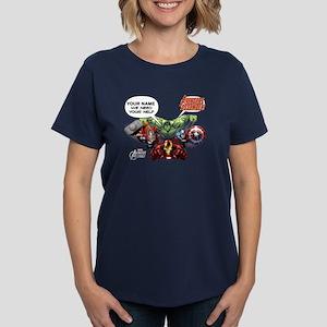 Avengers Assemble Personalize Women's Dark T-Shirt