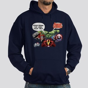 Avengers Assemble Personalized Desig Hoodie (dark)