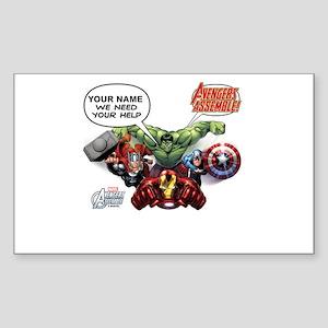 Avengers Assemble Personalized Sticker (Rectangle)