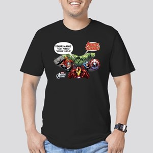 Avengers Assemble Pers Men's Fitted T-Shirt (dark)