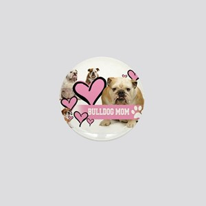 English Bulldog Mom Mini Button