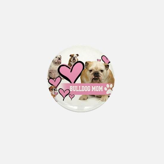 English Bulldog Mom Mini Button