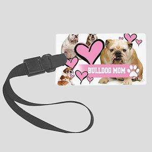 English Bulldog Mom Luggage Tag