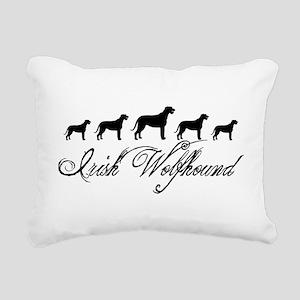 Irish Wolfhounds Rectangular Canvas Pillow