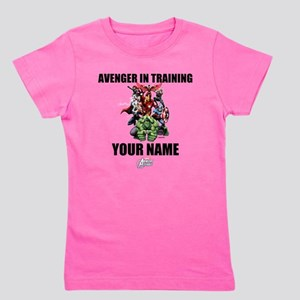 Avengers Assemble Personalized Design 2 Girl's Tee