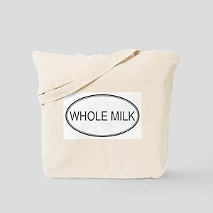 WHOLE MILK (oval) Tote Bag