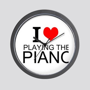 I Love Playing The Piano Wall Clock