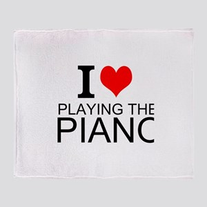 I Love Playing The Piano Throw Blanket