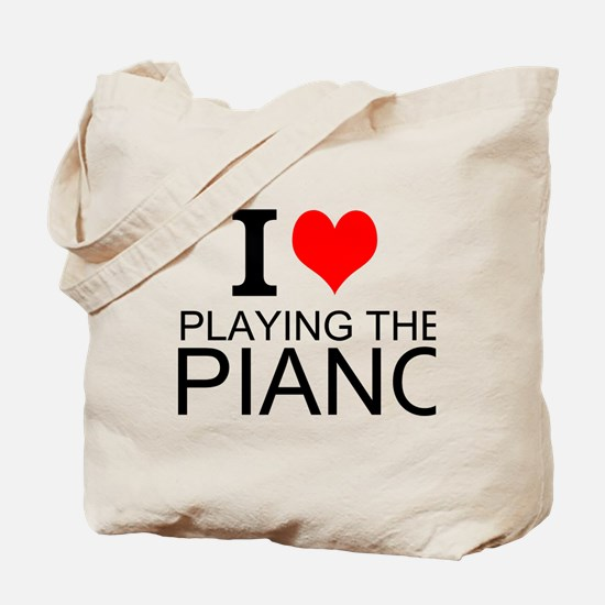 I Love Playing The Piano Tote Bag