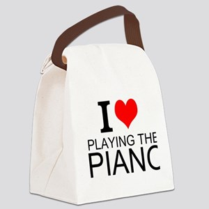 I Love Playing The Piano Canvas Lunch Bag