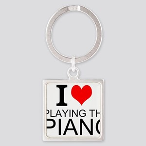 I Love Playing The Piano Keychains